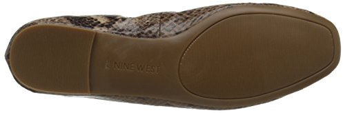 Nine West Girlsnite Ballet Synthetic Flat Dark Natural Multi