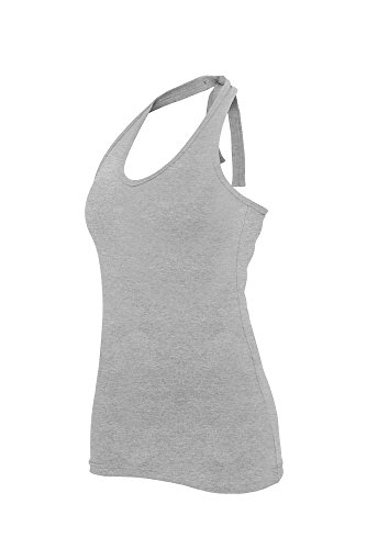 Urban Classics Ladies Neckholder Shirt, Débardeur Femme Grey