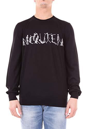 Alexander McQueen Herren 524856Q1wnu1001 Schwarz Wolle Sweater