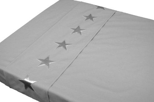 TAFTAN LA-210 Sternen Silber Überschlaglaken, 2 Masse, in 3 farben verfügbar -