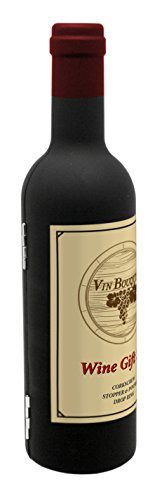 VinBouquet Set Cadeau de vin, ABS, Caoutchouc et SS, Argent, 26 x 13 x 3.5 cm, Lot de 5