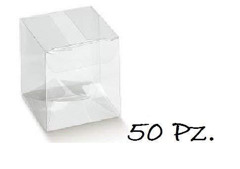 Irpot - 50 x scatola portaconfetti trasparente pvc 94042 10x10x12 cm