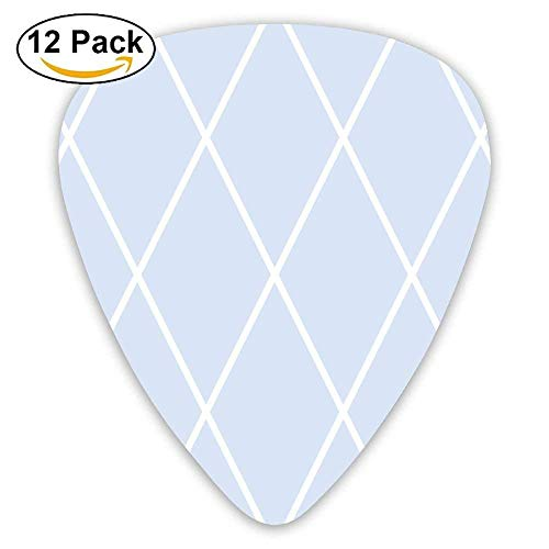 Clemmie's Lattice Chambray Blues Fabric Guitar Picks For Electric Guitar 12 Pack -
