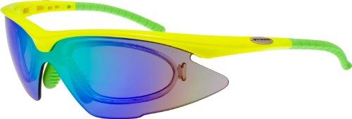 Radbrille mit Wechselvisier - Fahrradbrille mit Optik-Clip E680-5R