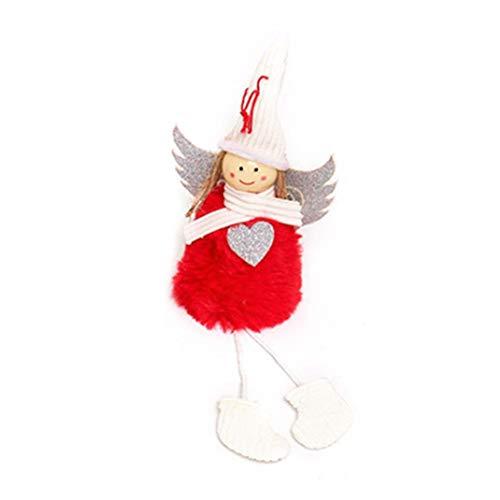 AIMERKUP Weihnachten Hängende Ornamente Baum Dekoration Plüsch Engel Flitter Gefüllte Puppe Spielzeug Für Home Office Zimmer Schaufenster Auto -