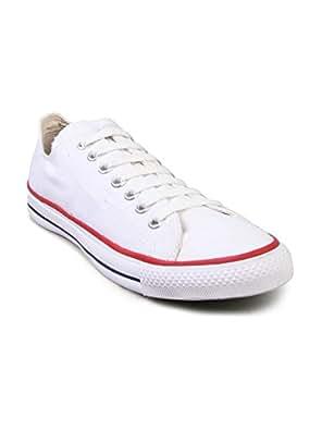 Converse Unisex 0104192W White Canvas Casual Shoes - 12 UK