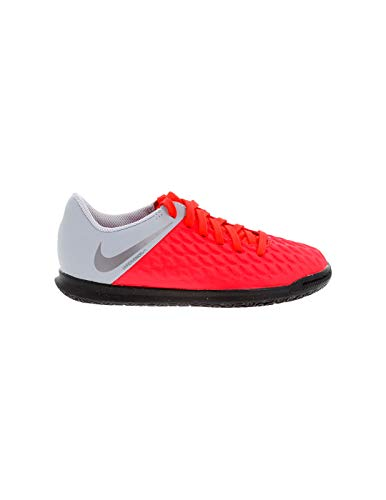 Nike Jr Hypervenom 3 Club IC, Scarpe da Calcetto Indoor Unisex-Bambini, Multicolore (Lt Crimson/Mtlc Dark Wolf Grey 600), 37.5 EU