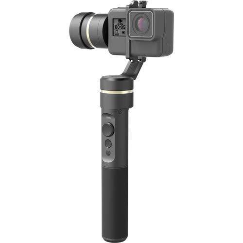 Feiyu Tech SPG - Gimbal de 3 ejes para Smartphone y Cámara deportiva, 8 horas, iPhone y Android compatible, bluetooth, color negro