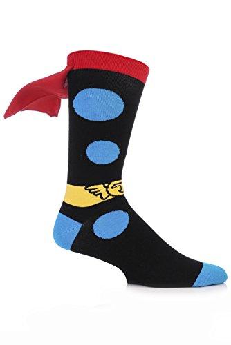 SockShop Herren 1 Paar Marvel Thor Cape Baumwolle Socken 7-12 Multi