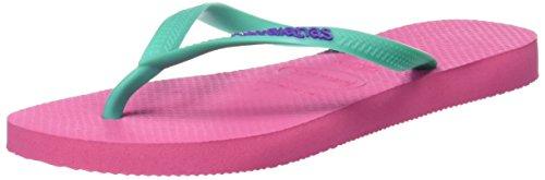 Havaianas Flip Flops Slim Logo Zehentrener für Frauen,Rosa (Shocking Pink 0703),37/38 EU (35/36 Brazilian)