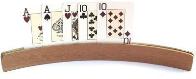 Spielkartenhalter aus Holz - 35 cm