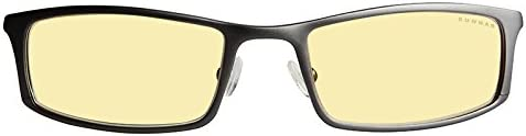 Gunnar Optiks ST002-C012Z Phenom Full Rim Ergonomic Advanced Computer Glasses with Amber Lens Tint, Graphite Frame Finish