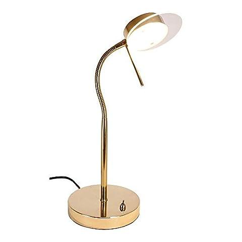 9-LED Brass Effect Table Reading Light