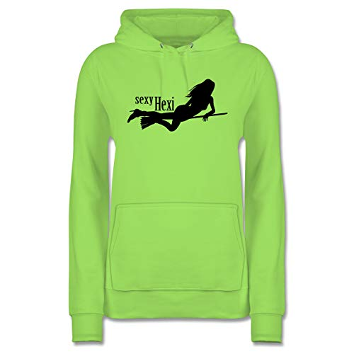 Shirtracer Halloween - sexy Hexy - S - Limonengrün - JH001F - Damen Hoodie
