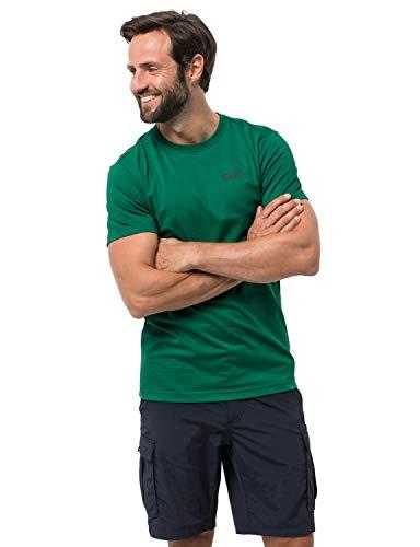 Jack Wolfskin Herren Essential T-Shirt, Cucumber Green, XXL (Green Mountain-kamera)