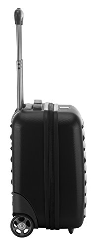 HAUPTSTADTKOFFER - Tegel - Pilotentrolley Hartschalenkoffer Koffer Handgepäck Trolley Rollkoffer, TSA, 38 cm, 32 Liter, Schwarz - 5