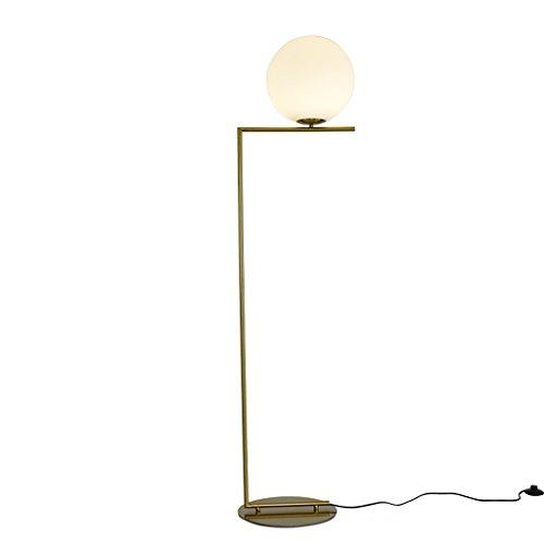 Antike Bronzeglasminimumwohnzimmer-Stehlampe, stilvolles Metallschlafzimmerrestaurant kurvte dünne Valentinstaggeschenk-Stehlampe (Size : White light) -