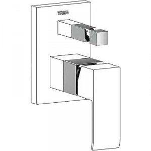 Preisvergleich Produktbild Drei Armatur 10618010–komposit für Armatur Unterputz Bad  Dusche