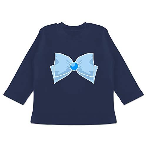 Karneval und Fasching Baby - Superheld Manga Merkur Kostüm - 12-18 Monate - Navy Blau - BZ11 - Baby T-Shirt Langarm