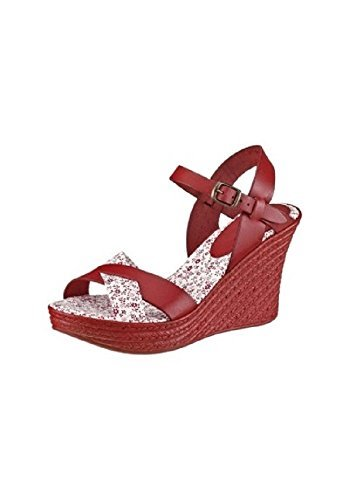 Unbekannt Sandalette, Sandali donna Rosso (rosso)