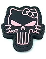 Parche de velcro, PVC, para airsoft y paintball, diseño de Kitty Pink Punisher