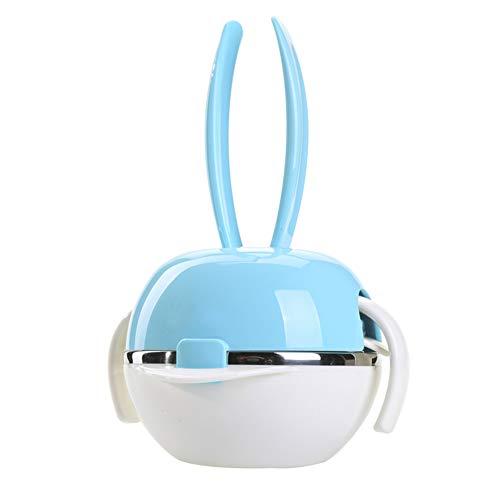 Vaisselle pour Enfants Vaisselle pour bébé Complément Alimentaire Paquet Résistance aux Gouttes Bol en Acier Inoxydable Cuillère Fourchette (Cadeau Inclus)