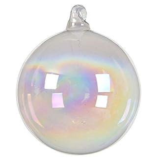 Decoris DEO4063093 – Bola de Navidad, Cristal, 8 x 8 cm, Transparente