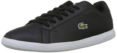 Wht Blk Herren Sneakers (Lacoste Herren Graduate Bl 1 SMA Sneaker, Schwarz (Blk/Wht 312), 45 EU)