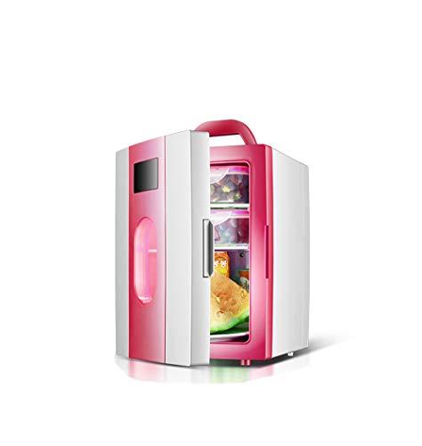 k, einfache 10 Liter 12V Kleine Gefrierschrank 23.5 * 27 * 33.5cm Rosa blau Heizung Kühlschrank Portable Getränke Obst und Gemüse Lebensmittel Kühlbox (Color : Pink) ()