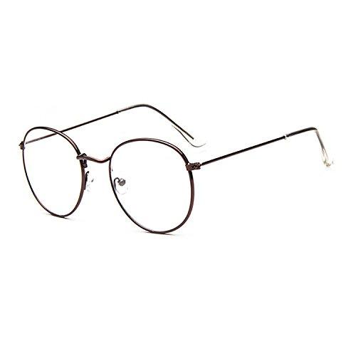 Nerd Fashion Brille Lesebrille ohne Stärke für Damen und Herren von ProcoTM | Unisex Transparente Durchsichtige Fashion Brille Nerd Brille Blogger Brille Glasses (Bronze)