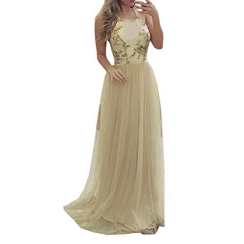 LOLIAN Damen Verband ärmellos Neckholder Pailletten Cocktail Abendkleid Kleid Kleider Elegant Druckknöpfe...
