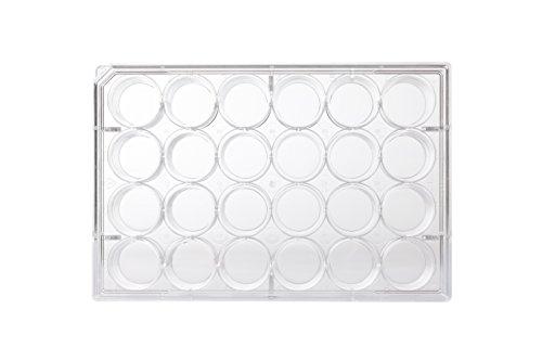 neoLab C-8108 Multitestplatten 24 Well flach, 16,2 mm Durchmesser, 1,92 cm², 3,42 mL (100-er Pack)