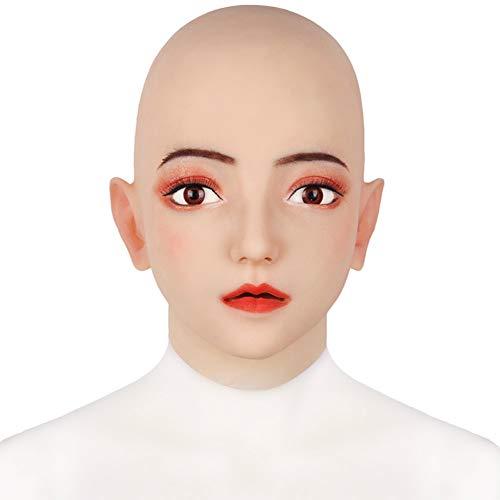 SZANDY Crossdresser Silikon Weibliche Maske Emily Realistische Transgender Latex Sexy Cosplay für Männer Echte Halloween Party Supplies