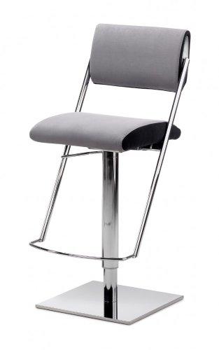 Mayer Sitzmöbel Barhocker Tresenhocker JET LINE LIFT 1245 Sitz-/Rücken Bezug Zweifarbkombination Mikrofaser Sitz-/Rücken 47 = 30382 blau + 30187 schwarz