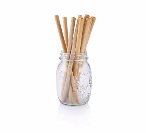Bambù cannucce, riutilizzabili alternativa a plastica, vetro e acciaio inox Cannucce. Eco Cortese opzione regalo per la cucina a casa o giorni festivi. Schöner Set