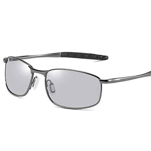 AOCCK Sonnenbrillen,Brillen, HD Men's Photochromic Polarized Sunglasses Chameleon Sun Glasses Men Day Night Driving Anti-Glare Eyewear Gafas De Sol Gun