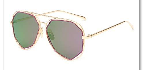 Sonnenbrille,Neue Big Frame Brille Männer Frauen Sonnenbrille Vintage Goggles Sommer Style Designer Sonnenbrille Gold Grün Violett