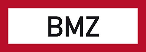 LEMAX® Aufkleber BMZ nach DIN 4066 (Brandmelderzentrale) 105x297mm