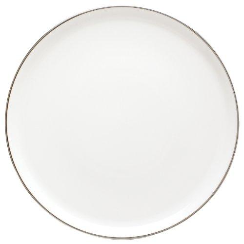 DEGRENNE Galon Platine Plat à Tarte Porcelaine Platine