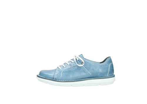 Wolky 8475-382, Scarpe stringate donna Azzurro