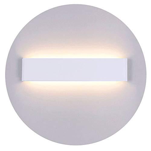 Yafido Applique Murale Interieur LED 14W 3000K Lampe Murale Blanc Chaud Acrylique Moderne AC 220V pour Chambre Salon Escalier Couloir 40cm