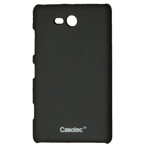 Casotec Ultra Slim Hard Shell Back Case Cover w/ Screen Protector for Nokia Lumia 820 - Black  available at amazon for Rs.199