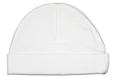 New 100% cotton White Baby Hat by Soft Touch - unisex baby available in newborn and 0-3 months (0-3 Months)