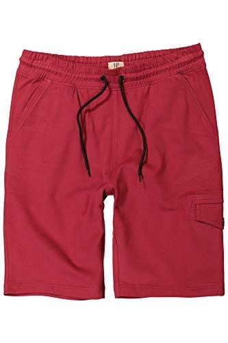JP 1880 Herren große Größen bis 7XL, Sweat-Bermuda, Kurze Hose mit elastischem Bund, Sweathose, Sweat-Qualität, Cargo-Style rot 6XL 711369 51-6XL