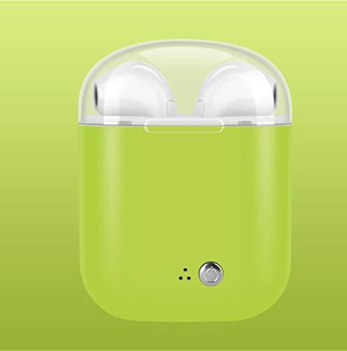 OvalE Kristall Abdeckung Wireless Bluetooth Headset Stereo Mini Doppel Ohr TWS Lade Lager Kopfhörer 72 x 55mm grün