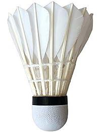YAOHM Feather Shuttlecocks 12 Duck Feather Durable Badminton