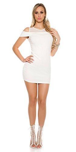 In-Stylefashion - Robe - Dos nu - Femme blanc Weiß S/M Weiß