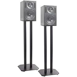 Duronic SPS1022 /60 Paire de Pieds d'Enceintes - 60 cm de Hauteur - Lestable avec du Sable - Cônes pour réduire Vibrations - Compatibilité Universelle Haut-parleurs Hi-FI/Stéréo/Home Cinema 5.1 - Set de 2