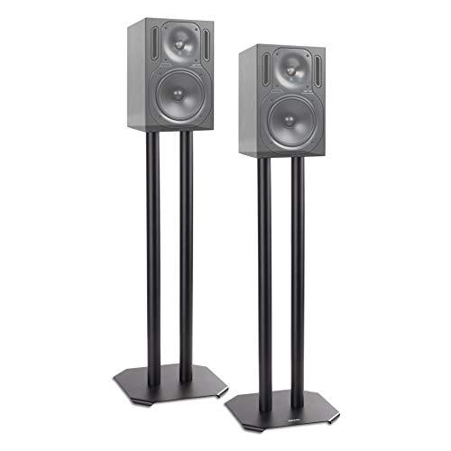 Duronic SPS1022 - 60 Twin Lautsprecherständer Schwarze Metall Basis / 60 cm Höhe/geeignet für Lautsprecher - Hi-Fi und Heimkinoanlagen