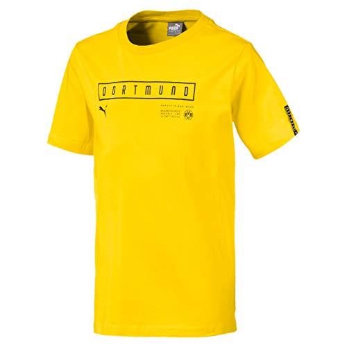 Puma Kinder BVB Fan Tee Jr T Shirt Cyber Yellow 110